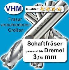 Schaftfräser 3,2mm f. Kunststoff Holz Vollhartmetall scharf geschliffen 50mm Z=1