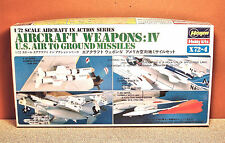 1/72 HASEGAWA AIRCRAFT WEAPONS IV US AIR TO GROUND MISSILES MODEL KIT # 1-1961