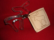 Ann Clark LTD MOOSE COOKIE CUTTER Metal on Card w/Moose Cookie Recipe & Icing