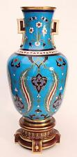 Arts and Crafts Antique Christopher Dresser Minton Pottery Cloisonné Vase c.1870