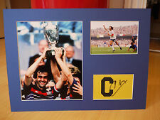 Mounted Michel Platini Signed Captains Armband Display - France Football