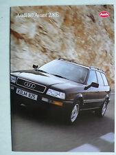 Prospekt Audi 80 Avant 2.8 E, 7.1993, 8 Seiten