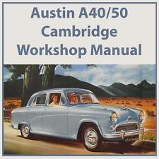 AUSTIN A40/50 CAMBRIDGE WORKSHOP MANUAL: 1954-1957