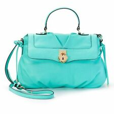Juicy Couture LA Collection Ryan Crossbody Satchel Aqua Green Heart Lock NWT
