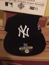New York Yankees 2000 World Series Patch Low Profile Fitted Hat Cap 7 3/4 NY