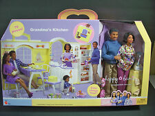 NIB BARBIE DOLL 2003 HAPPY FAMILY GRANDMA'S KITCHEN GRANDPARENTS GFTSET BLACK AA