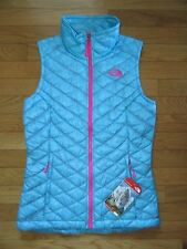 NORTH FACE WOMENS THERMOBALL VEST, FORTUNA BLUE, NWT, XS