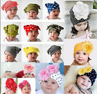 1P 6 Colors Baby Girls Kids Toddler Infant Flower Cotton Beanie Headwear Hat Cap