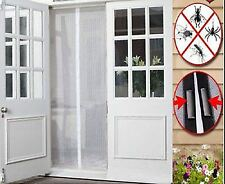 MAGIC DOOR WHITE CURTAIN MAGMESH FASTENING HANDS FREE SCREEN FOR FLY BUG INSECT