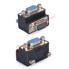 90 Degree Right Angle 15 Pin VGA SVGA Male to Female Converter Angle Adapter