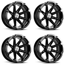 4 ATV/UTV Wheels Set 14in MSA M12 Diesel Black 4/110 10mm IRS