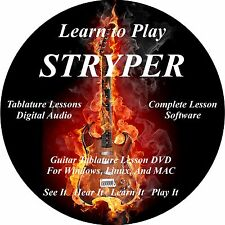 Stryper Guitar TAB Lesson Software CD 42 Songs!