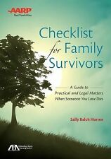 NEW Checklist for Family Survivors: A Guide to Practical and Legal Matters When