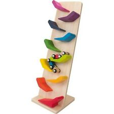 Autism Sensory Wooden Car Race Tower Set Toy Special Needs Fine Motor Skill Game