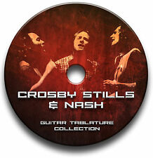 CROSY STILLS & NASH FOLK ROCK GUITAR TABS TABLATURE SONG BOOK SOFTWARE CD