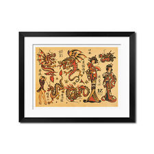 Sailor Jerry American Traditional Vintage Tattoo Flash Poster Print 0669