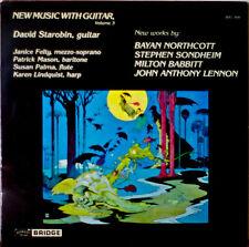 NEW MUSIC WITH GUITAR, Volume 3-M1985LP David Starobin, Guitar/BABBIT/SONDHEIM++
