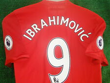 MAN UTD HOME* MATCHDAY* SHIRT ZLATAN IBRAHIMOVIC  2016-17 BNWT SIZE LARGE BADGES