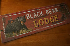 Large BLACK BEAR MOM & CUB Rustic Hunting Lodge Hunter Cabin Home Decor Sign NEW