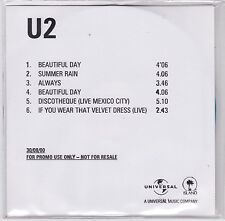 U2 - Beautiful Day - Rare UK 6trk promo CD (commercial CD1 & CD2 tracks)