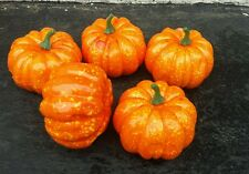 5 x  Artificial  Pumpkin Fruits 8.5-5.3CM.ideal for craft autumn....  UK  SELLER