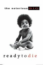 """THE NOTORIOUS B.I.G. POSTER """"READY TO DIE"""" BRAND NEW """"SIZE 61cm X 91.5cm"""""""
