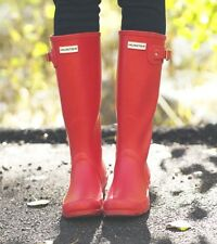 Hunter Tall Rain Boots Matte Red Size 7 Women 6 Men