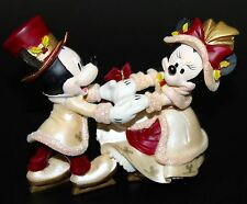 MICKEY and MINNIE MOUSE Victorian Ice Skating Holiday Christmas Ornament