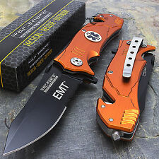 "8.25"" TAC FORCE EMT SPRING ASSISTED TACTICAL FOLDING KNIFE Blade Assist Pocket"