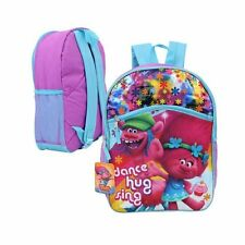 "Dreamworks Trolls Girls 16"" Canvas School Backpack - Dance Hug Sing"