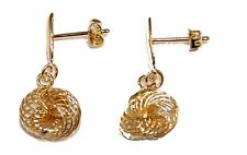 Spiral Atom Dangle Earring 18k Gold Plated Spiral Earrings