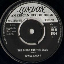 """JEWEL AKENS the birds and the bees/tic tac toe HLN 9954 uk london 1965 7"""" WS VG/"""