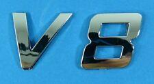 """Chrom Emblem """"V8"""" passend für Audi A8/V 8/S8/BMW E23/E39/E38/M5/M6"""