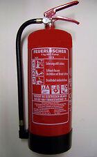 """2 Stück 6 kg Feuerlöscher Pulverfeuerlöscher  ABC - Pulver """"NEU mit Manometer"""