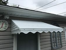 "ALUMINUM 46"" WIDE X 36"" DEEP X15"" HIGH WHITE AWNING DOOR KIT  VALANCE"