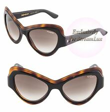 YVES SAINT LAURENT Cat Eye Sunglasses YSL 6366S UVPJS Havana Brown