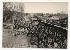 PHOTO ANCIENNE - SENS Destruction du pont Le chemin de fer Juin 1944 Vintage