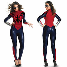 Spider Women Super Hero Costume fancy dress Cosplay bodysuit hen night
