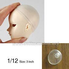 3inch 1/12 BJD Wig Cap Tiny LATI Dollfie DOD AOD DIM DREAM Head Silicone Sheath