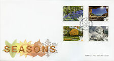 Guernsey 2016 FDC Seasons SEPAC 4v Set Cover Trees Flowers Lighthouses Stamps