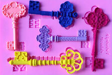 Fancy Keys 5 Cavity Silicone Mold for Fondant, Gum Paste, Chocolate, Crafts NEW