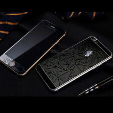 3D Diamond Color Tempered Glass Front +Back Screen Protector 9H For Apple Phone