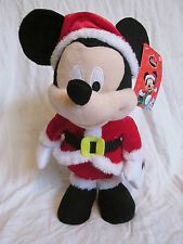 "New 13"" Musical/Animated Mickey Mouse Disney Christmas Plush Sings Deck the Hall"