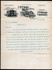 Calskill NY 1898 Spray Pumps  P C Lewis Manufacturing Co Vintage Letter head