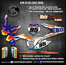 KTM SX 85 2013/2014/2015/2016 graphics/decals/stickers