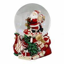 Hand Painted Resin Musical Christmas Snow Globe Waterball - Santa Claus