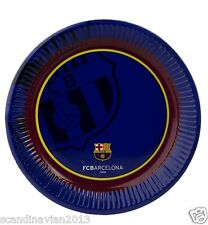 FC Barcelona Paper Plate dish 23 cm diam. 10 Pcs / Pack Birthday Party Offical