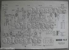 WEGA tipo 140 radio schema elettrico, stand circa 1966