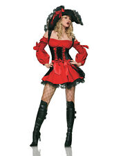 Sexy Adult Ladies Captain Pirates Fancy Dress Costume Caribbean Cosplay Outfit