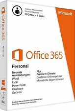 Microsoft Office 365 personnel - 1 pc/mac 1 + 1 tablette-pkc-Allemand-NEUF